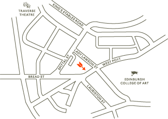 Map to Herman Brown, Edinburgh